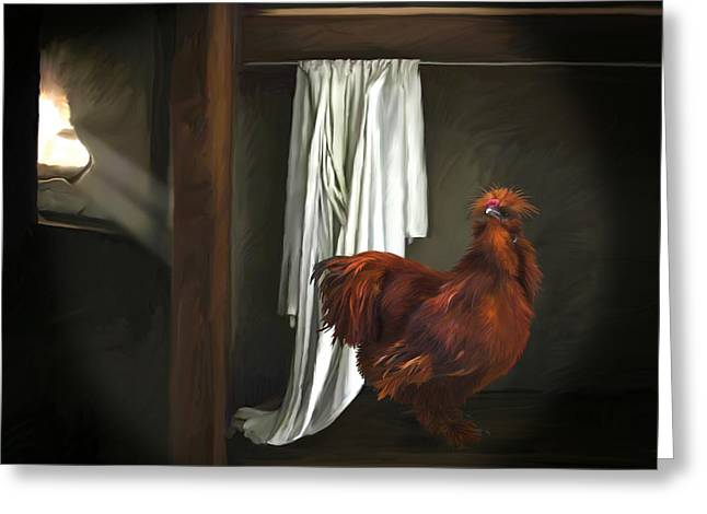18. Red Rooster Greeting Card