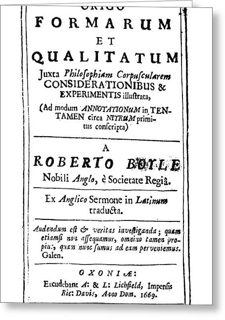 Robert Boyle (1627-1691) Greeting Card