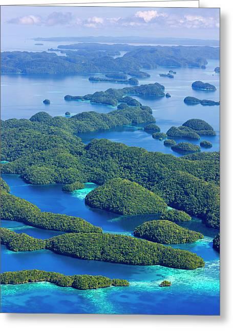 Rock Islands, Palau Greeting Card by Keren Su