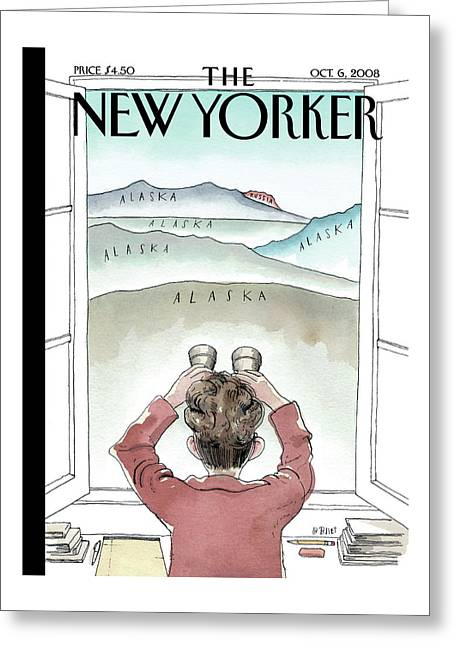 New Yorker October 6th, 2008 Greeting Card by Barry Blitt