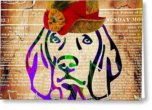 Weimaraner Collection Greeting Card by Marvin Blaine