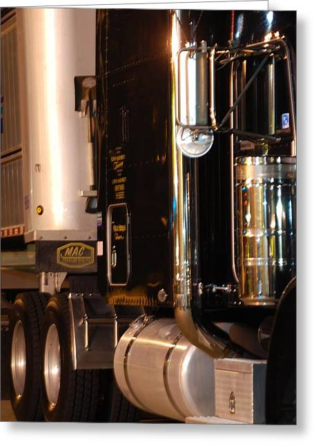 Greeting Card featuring the photograph 18 Wheeler 02 by Ramona Whiteaker
