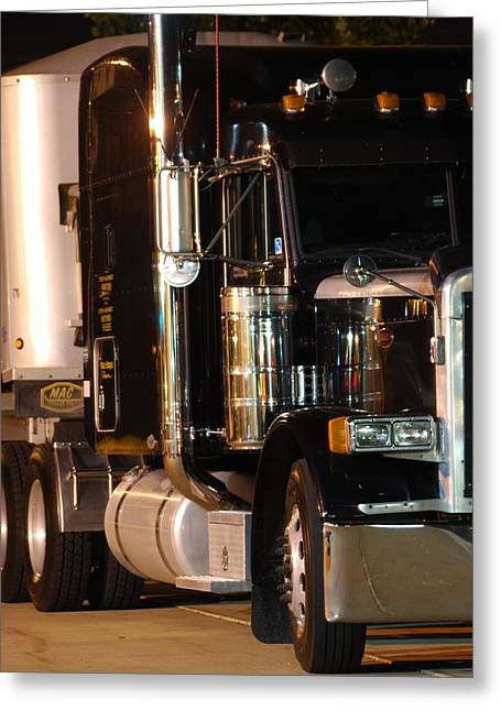 Greeting Card featuring the photograph 18 Wheeler by Ramona Whiteaker