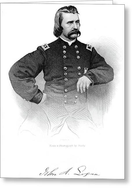 1800s 1860s Portrait John A Logan Union Greeting Card