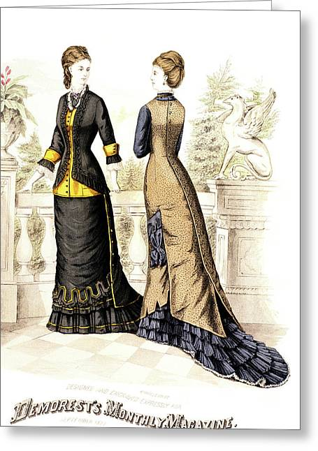 1800s 1870s Womens Fashion Plate Greeting Card