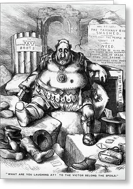 1800s 1871 Thomas Nast Cartoon Of Boss Greeting Card