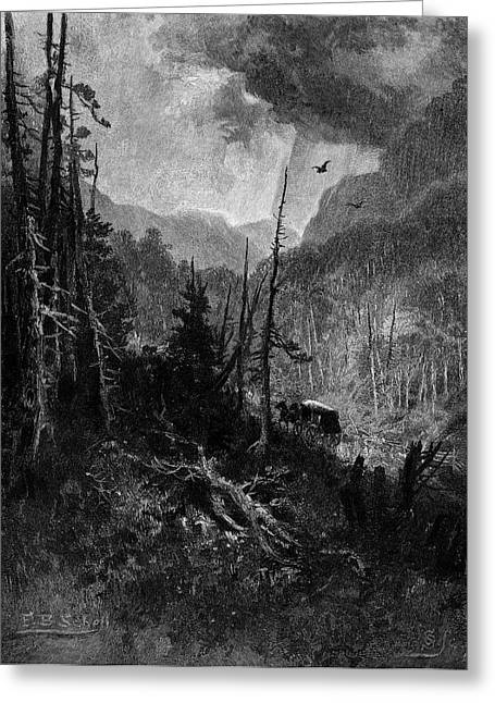 1800s Bolton Pass Stagecoach Route Greeting Card