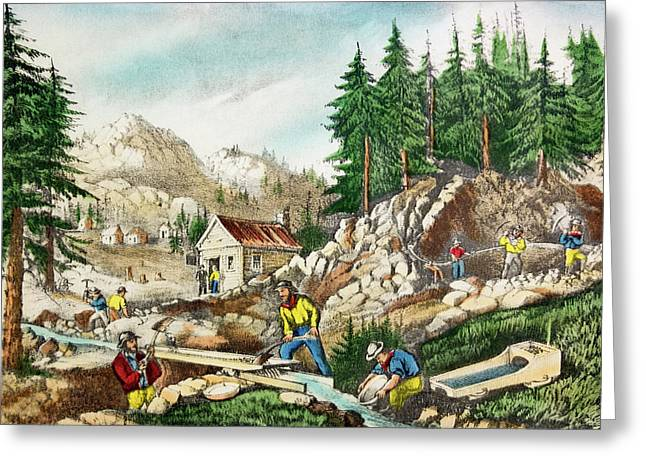 1800s Currier & Ives Color Engraving Greeting Card