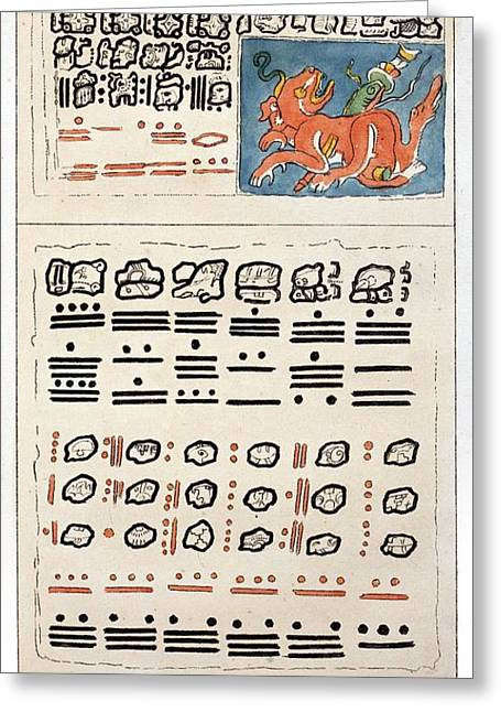 1814 Humboldt Mayan Heiroglyphics Greeting Card by Paul D Stewart