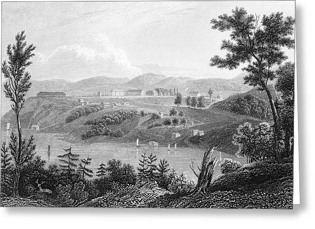 1830s 1834 Engraving Of West Point Greeting Card