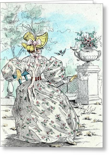 1831, Womens Fashion In Nineteenth-century Paris Greeting Card by Artokoloro
