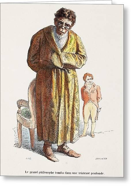 1842 Geoffrey Saint Hilaire Scientist Greeting Card
