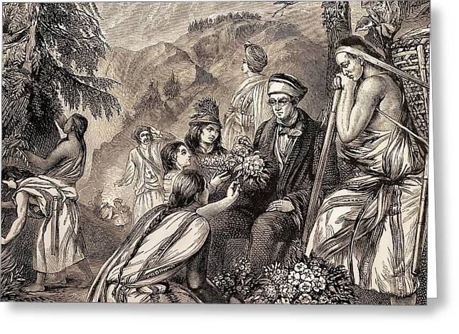 1845 Sir Joseph Hooker Botanist Himalayas Greeting Card