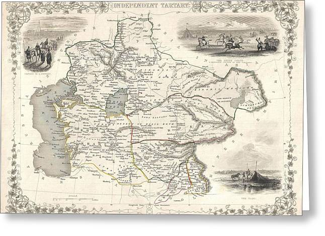 1851 Asia Map Greeting Card