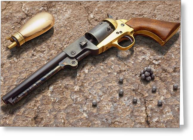 1851 Navy Revolver 36 Caliber Greeting Card by Mike McGlothlen