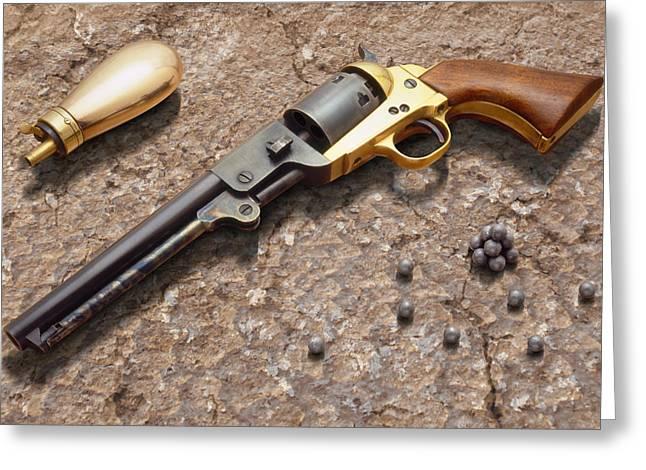 1851 Navy Revolver 36 Caliber Greeting Card