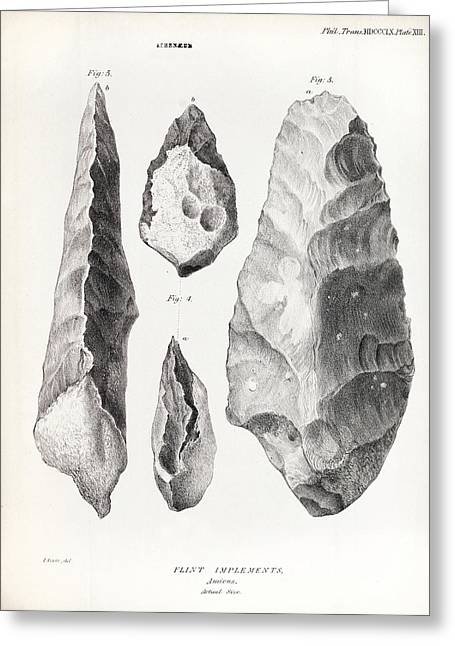 1860 Flint Handaxe From Prestwich Article Greeting Card