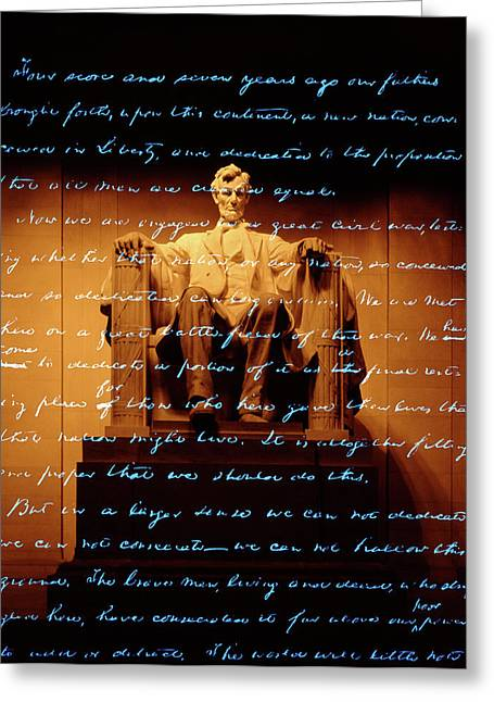 1860s Abraham Lincoln Statue Greeting Card