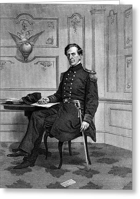 1860s Captain Charles Wilkes Usn Of Uss Greeting Card