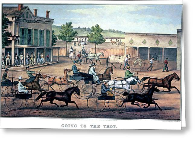 1860s Going To The Trot A Good Day & Greeting Card
