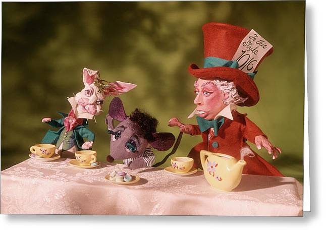 1860s Mad Hatters Tea Party From Alice Greeting Card