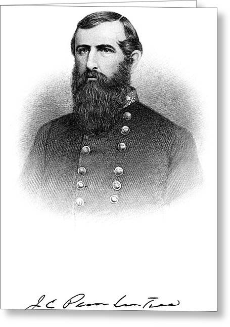 1860s Portrait Confederate General John Greeting Card