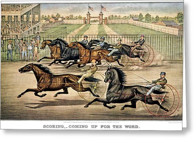 1860s Scoring - Coming Up For The Word Greeting Card