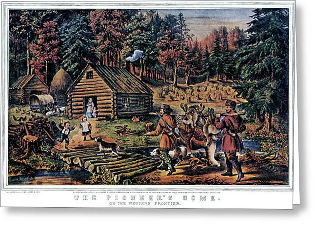 1860s The Pioneer Home On Western Greeting Card