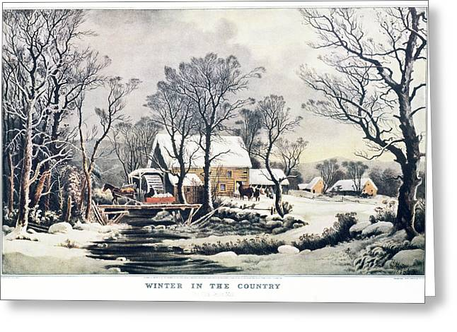 1860s Winter In The Country - The Old Greeting Card
