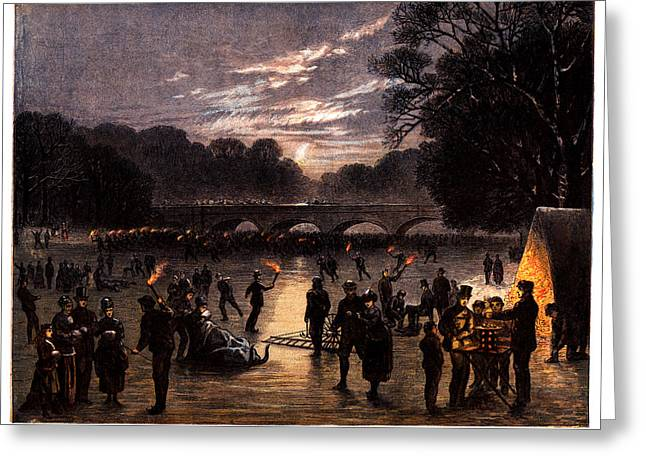 1870 The Serpentine Of London England Greeting Card