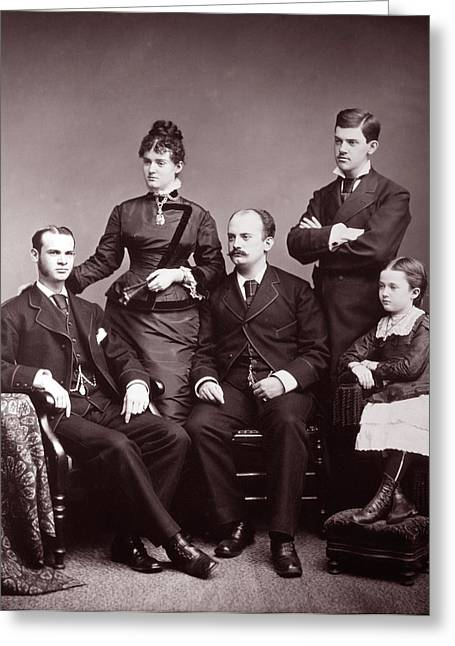 1870s 1876 Nostalgic Centennial Family Greeting Card