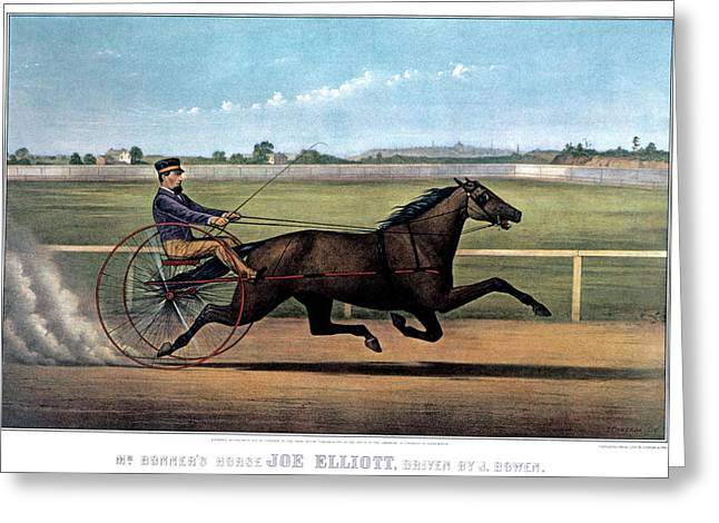 1870s Mr. Bonners Horse Joe Elliot Greeting Card