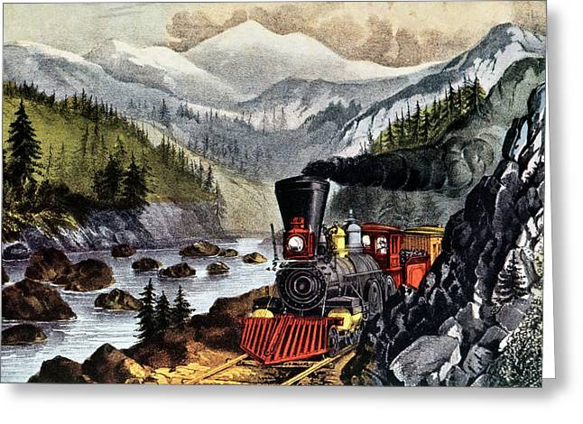 1870s The Route To California - Truckee Greeting Card