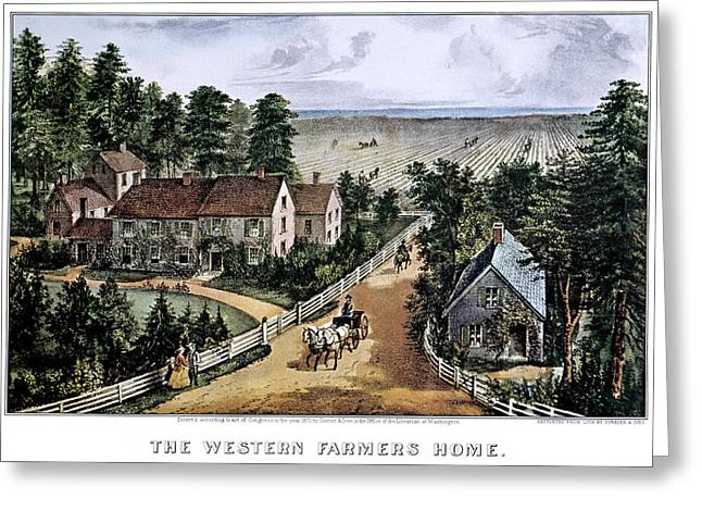 1870s The Western Farmers Home - Greeting Card
