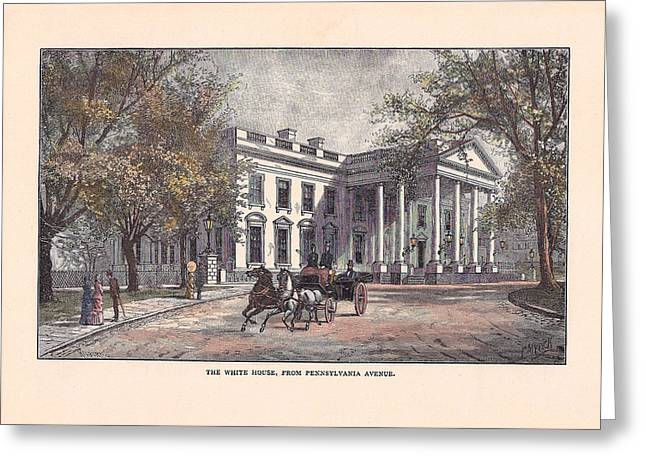 1870's White House Greeting Card by Charles Somerville