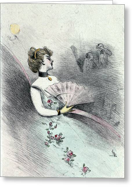 1874, Womens Fashion In Nineteenth-century Paris Greeting Card by Artokoloro
