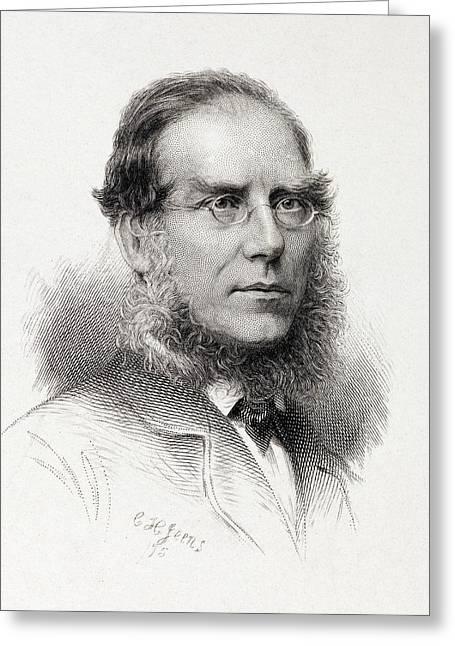 1875 Joseph Hooker Botanist Kew Darwinian Greeting Card by Paul D Stewart