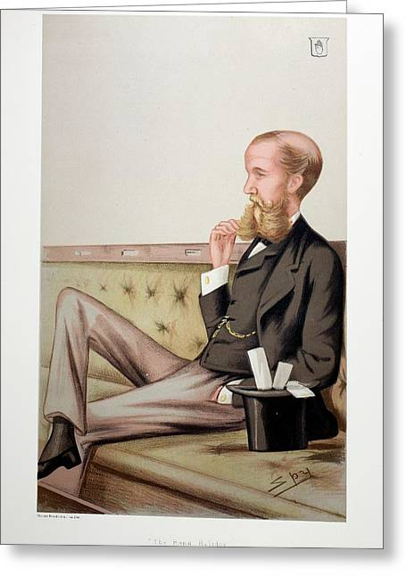 1878 Sir John Lubbock Portrait Cartoon Greeting Card by Paul D Stewart