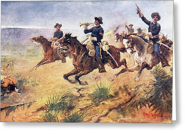 1880s 1890s Scene Of American West Greeting Card