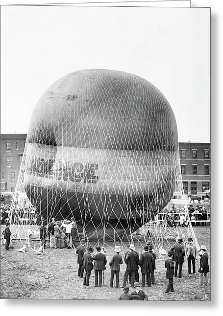 1880s Balloon Independence Preparing Greeting Card