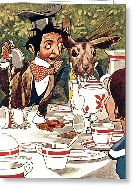 1880s Illustration From Alice Greeting Card