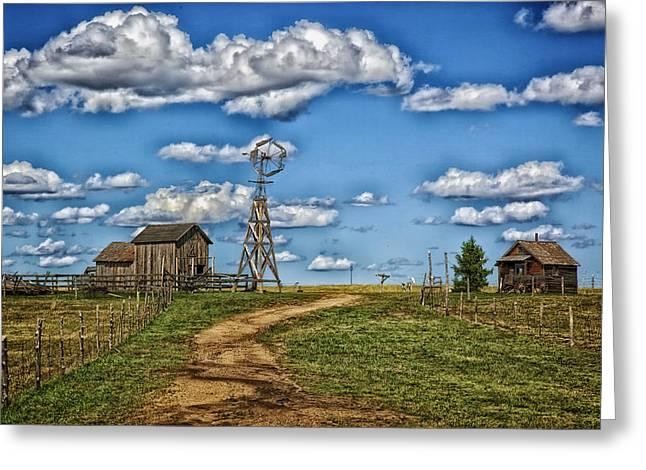 1880s Town Murdo South Dakota Greeting Card by Mountain Dreams