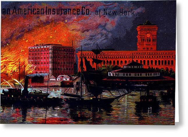 1885 German American Insurance Of New York Greeting Card