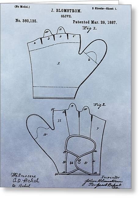 1887 Baseball Glove Patent Greeting Card by Dan Sproul