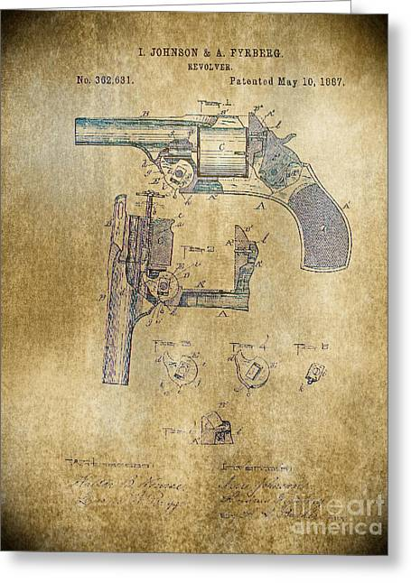 1887 Revolver Greeting Card by Steven Parker