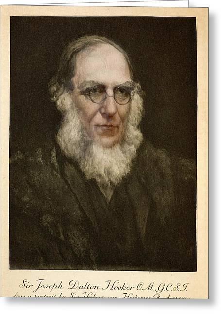 1889 Joseph Hooker Botanist Kew Darwin Greeting Card