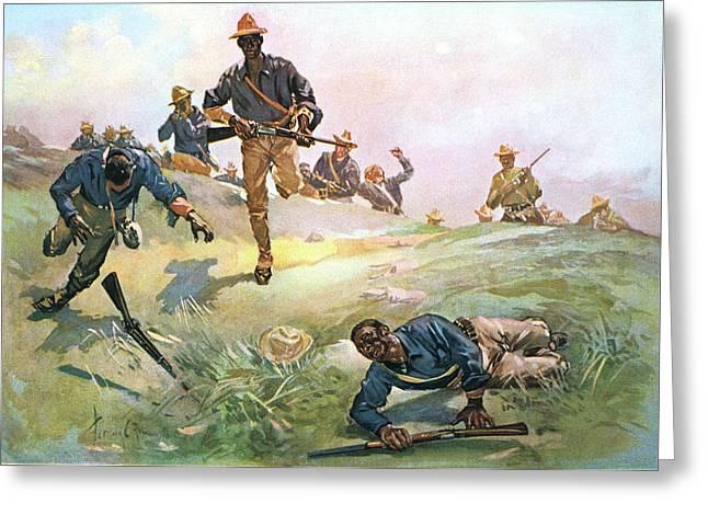 1890s 1898 Spanish American War African Greeting Card
