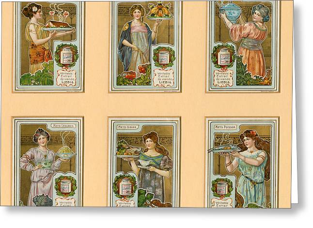 1890s France Liebig Cigarette Card Greeting Card by The Advertising Archives