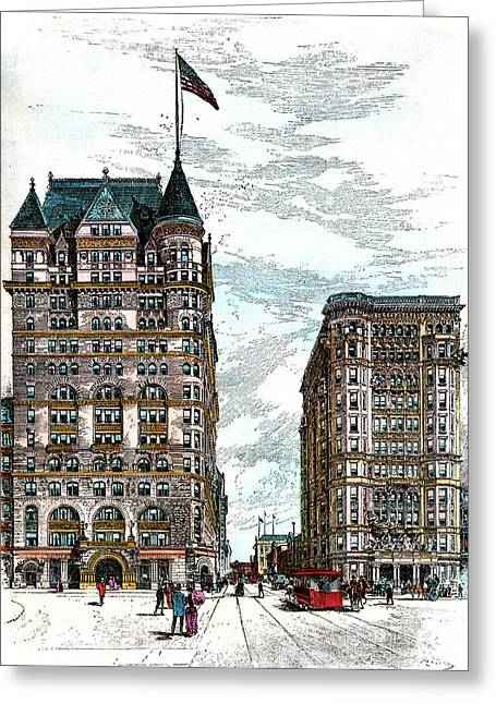 1890s Hotels Sherry And The Savoy Greeting Card
