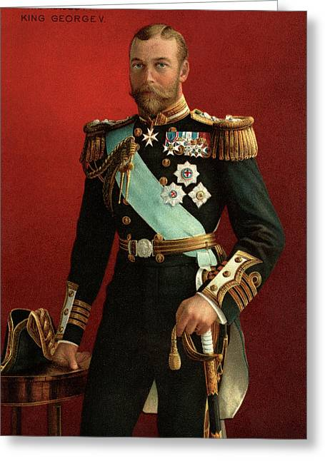 1890s Portrait Of King George V Greeting Card